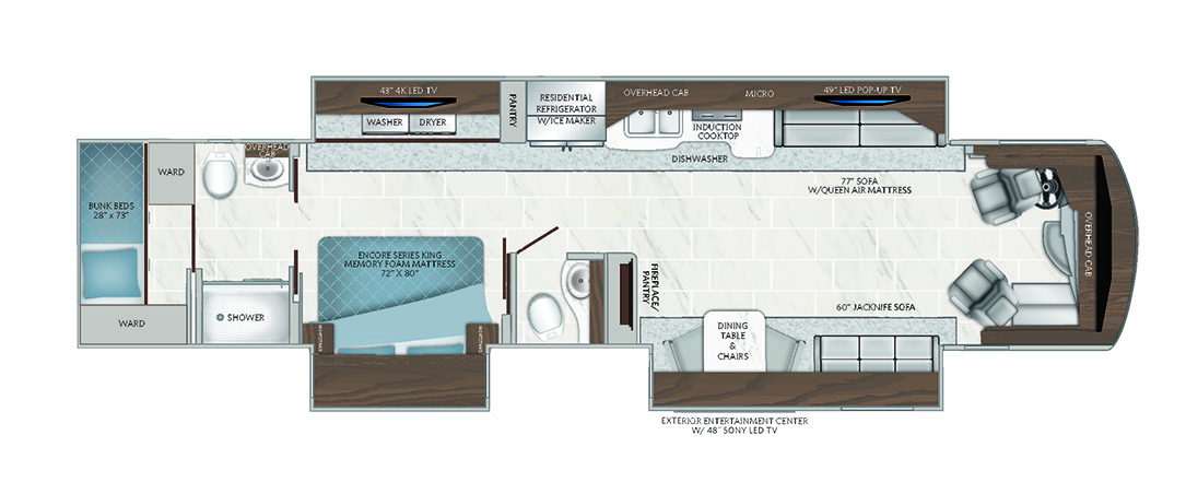 2019 American Dream 42B Floorplan