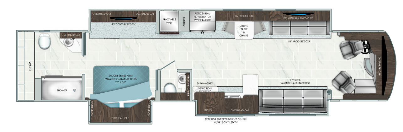 2019 American Dream 45A Floorplan